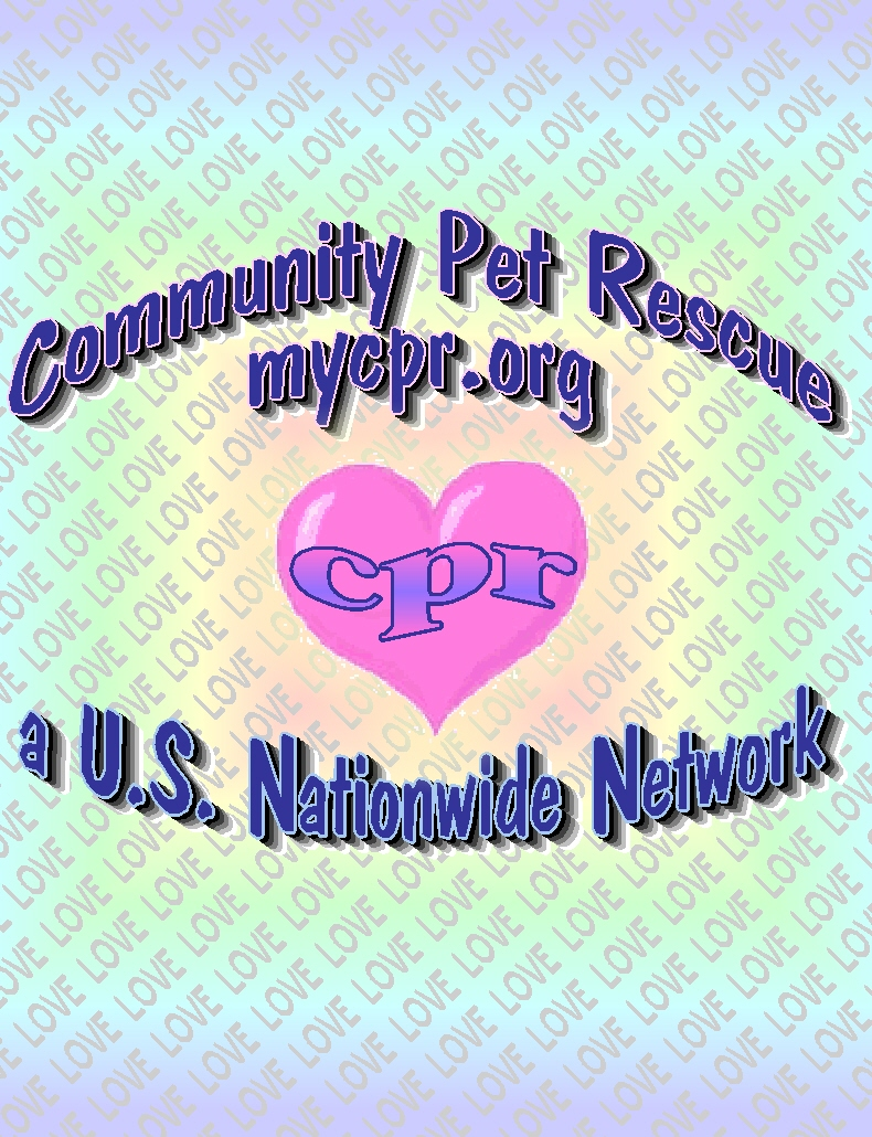 Please click the image to enter our office My Cpr.org Community Pet Rescue Network website